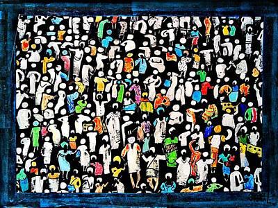 Painting - Black Market by Auckel Vishal