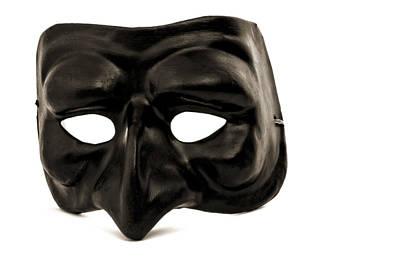 Puffin Digital Art - Black Mask by Carlo Oropallo
