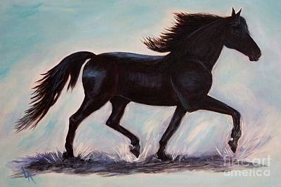 Painting - Black Morgan Beauty by Leslie Allen