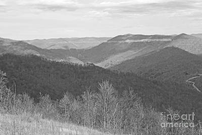 Photograph - Black Mountain - Kentucky Bw by Mary Carol Story