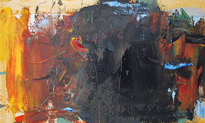 Painting - Black Mountain by Richard Hinger
