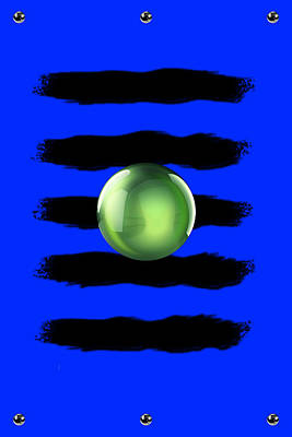 Black N' Blue Art Print by Brian Lyne