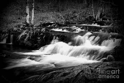 Photograph - Black N White Cascades by Cynthia Mask