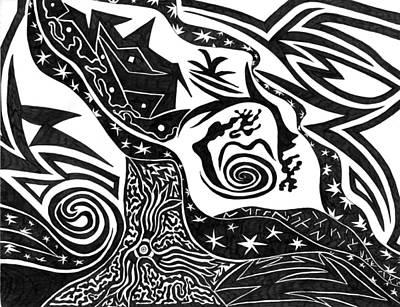 Drawing - Black Night by Kerri White