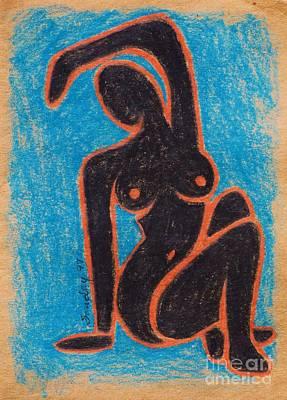 Black Nude Art Print by Joseph Sonday