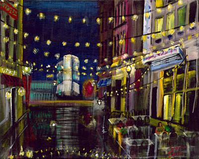 Gaslight Painting - Black Ohio Sky by Gretchen  Smith