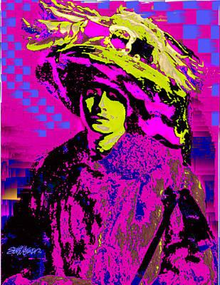 Black On Pink Art Print by Seth Weaver