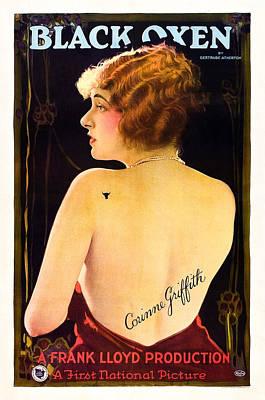 Black Oxen, Corinne Griffith On Poster Print by Everett