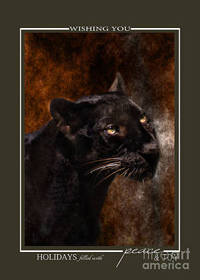 Photograph - Black Panther Christmas Cards by Jai Johnson