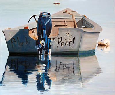Amagansett Painting - Black Pearl by Lorraine LaVista