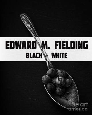 Photograph - Black Plus White Book Cover by Edward Fielding