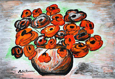Painting - Black Poppies by Ramona Matei