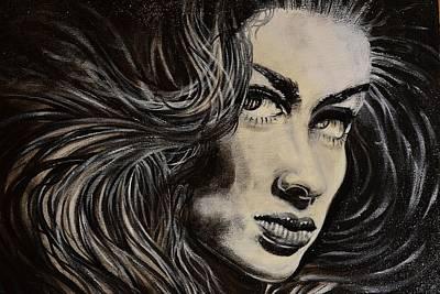 Black Portrait 13 Art Print by Sandro Ramani