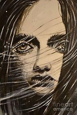 Black Portrait 18 Art Print by Sandro Ramani