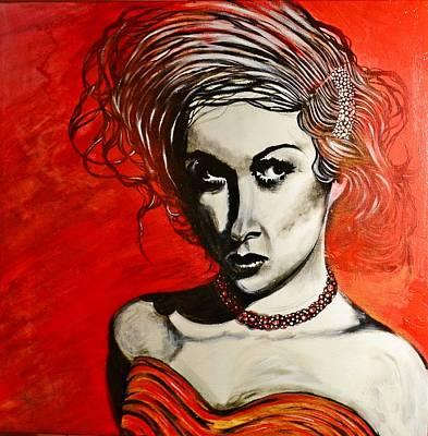 Black Portrait 20 Art Print by Sandro Ramani