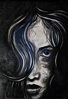 Painting - Black Portrait 5 by Sandro Ramani