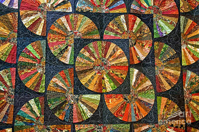 Photograph - Black Quilted Pattern Design by Valerie Garner