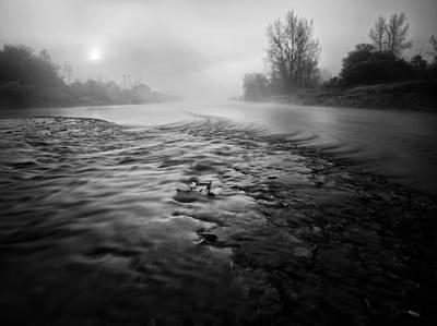 Black River Print by Davorin Mance