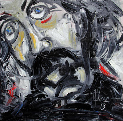Painting - Black Robe by Jim Vance