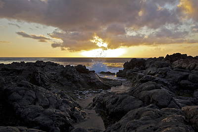 Photograph - Black Rock Sunset by Brian Governale