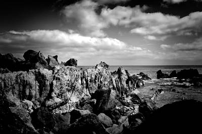 Photograph - Black Rocks 3 by Joseph Amaral