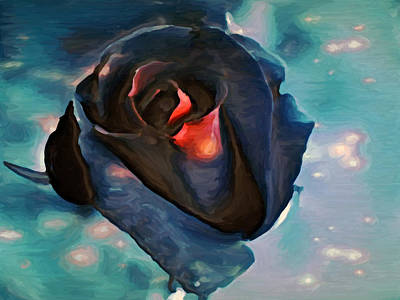 Mixed Media - Black Rose by Dennis Buckman