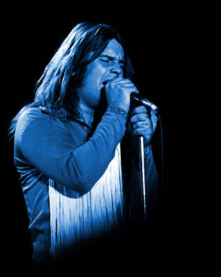 Photograph - Black Sabbath #11 Enhanced In Blue by Ben Upham