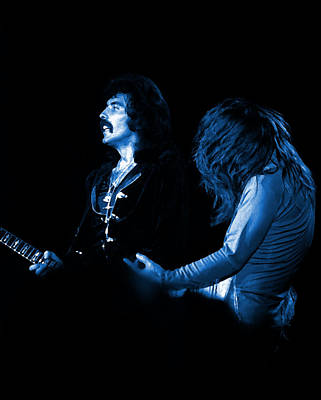 Photograph - Black Sabbath #16 Enhanced In Blue by Ben Upham