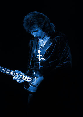 Photograph - Black Sabbath #24 Enhanced In Blue by Ben Upham