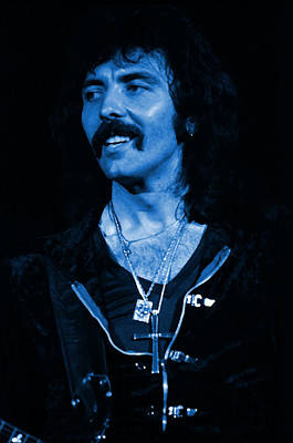 Photograph - Black Sabbath #27 Enhanced In Blue by Ben Upham