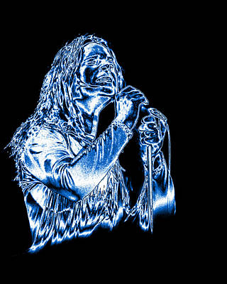 Photograph - Black Sabbath #30 Enhanced In Metallic Blue by Ben Upham