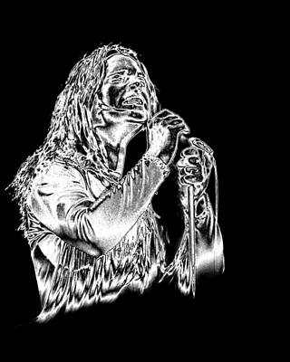 Photograph - Black Sabbath #30 Enhanced In Metallic Silver by Ben Upham