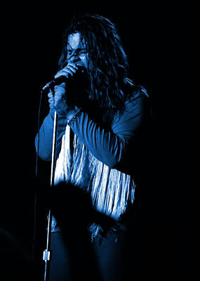 Photograph - Black Sabbath #39 Enhanced In Blue by Ben Upham