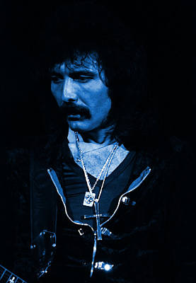 Photograph - Black Sabbath #45 Enhanced In Blue by Ben Upham