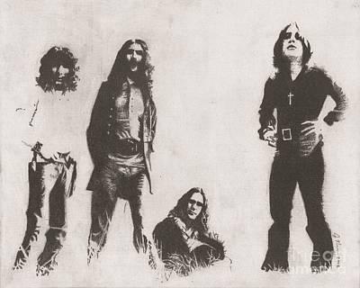 Metal Drawing - Black Sabbath by Jeff Ridlen