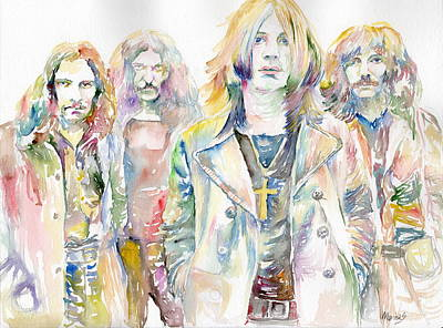 Miles Davis Oil Painting - Black Sabbath by Marina Sotiriou