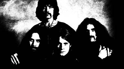 Singers Photograph - Black Sabbath by VRL Art
