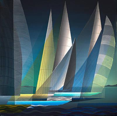 Painting - Black Sail 2013 by Douglas Pike