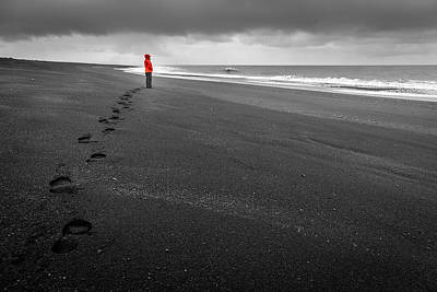 Photograph - Black Sand by Alexey Stiop