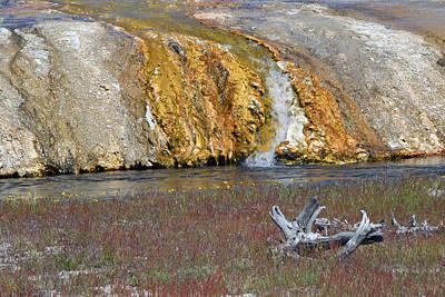 Black Sand Basin Runoff Yellowstone Art Print by Bruce Gourley