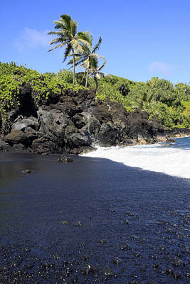 Black Sand Beach 1 Art Print