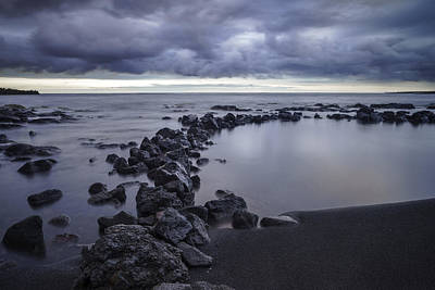Big Island - Black Sand Beach Art Print