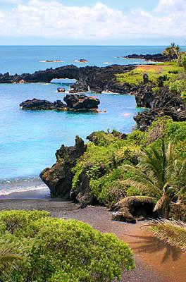 Photograph - Black Sand Beach Maui by Jane Girardot