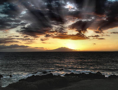 Photograph - Black Sand Sunset by Coby Cooper