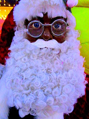 Photograph - Black Santa by Randall Weidner