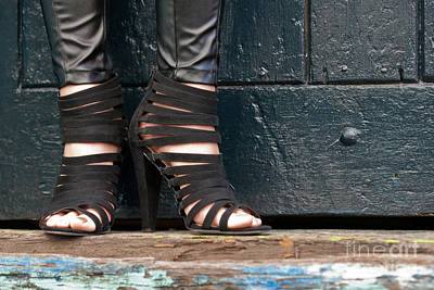 Photograph - Black Shoes by Rick Piper Photography