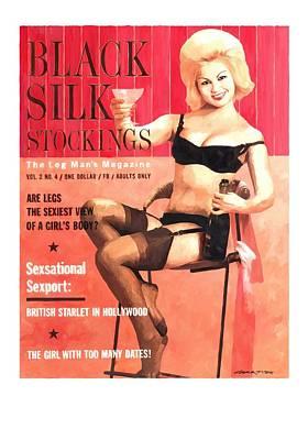 Digital Art - Black Silk - Vintage Magazine Covers Series by Gabriel T Toro