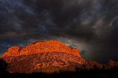 Photograph - Black Skies And Red Rock Sunset by Tranquil Light  Photography