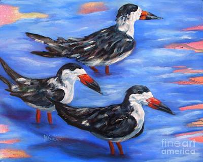 Painting - Black Skimmers by JoAnn Wheeler