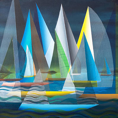 Painting - Black Sky Blue Hull 2013 by Douglas Pike